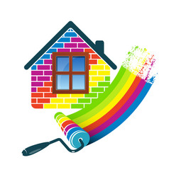 Home painting roller vector
