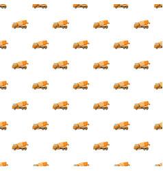 Orange truck concrete mixer pattern vector