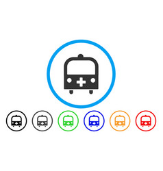 medical bus rounded icon vector image