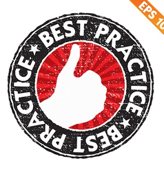 Stamp sticker best practice collection - - vector