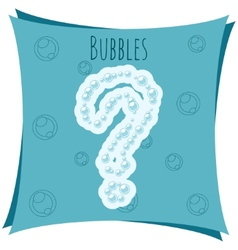 Abstract element question mark made of bubbles vector