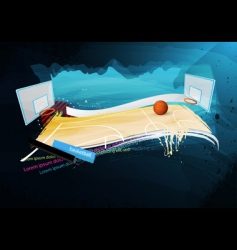 Grunge basketball design vector