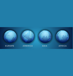 3d world map in different view vector image