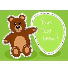 Teddy bear with blank sign vector