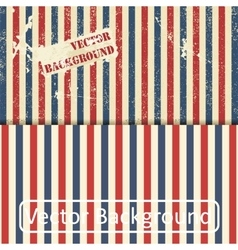 Vintage design template with stripes vector image