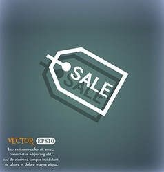 Sale icon symbol on the blue-green abstract vector
