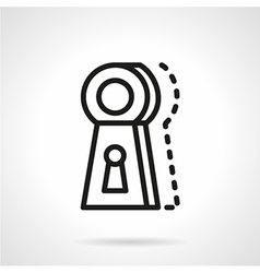 Keyhole line icon vector