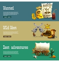 Wild west banners set vector