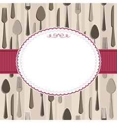 cutlery frame vector image