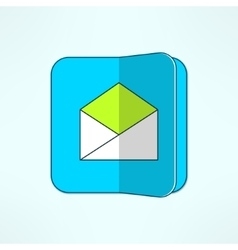 Internet mail icon in modern flat design vector