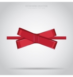 Red bow isolated vector