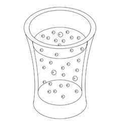 Glass of carbonated drink icon isometric 3d style vector image