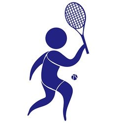 Sport icon with man playing tennis vector