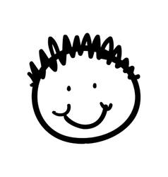 Boy kid icon person and cartoon graphic vector
