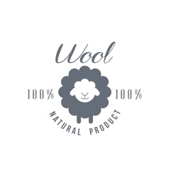 Natural wool product logo design vector