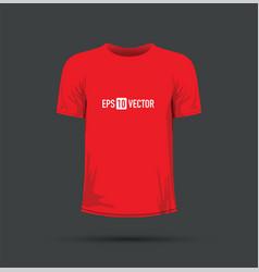 A red t-shirt vector