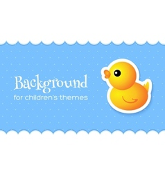 Abstract Background with Duck vector image vector image
