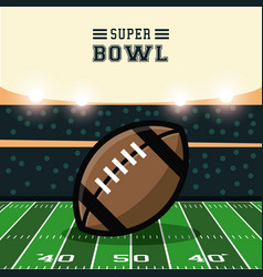 American football bowl tournament vector