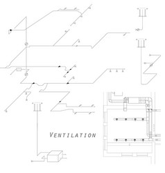 Axonometric view of the ventilation system vector