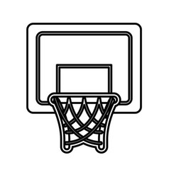 Basket basketball isolated icon vector