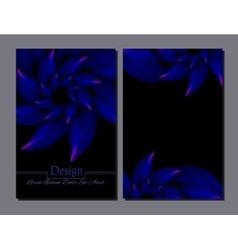 Beauty brochure blue and black colors vector