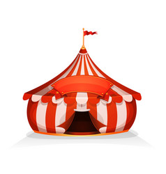 Big top little circus tent with banner vector
