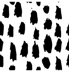 Black and white ink seamless pattern vector image