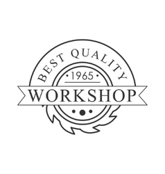 Buzz saw premium quality wood workshop monochrome vector