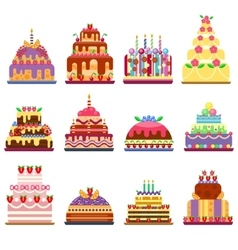 Cake pie isolated vector image vector image