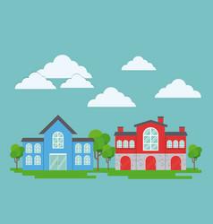 City buildings design vector