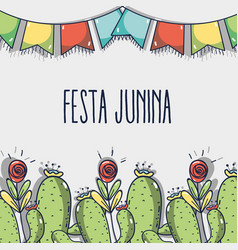 colorful concept related with festa junina vector image vector image
