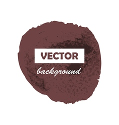Colorful round paint stain grunge isolated vector