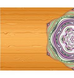 Colorfull ornamet snowlake on table vector