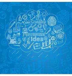 Creative icon doodle vector