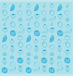 Fruit background pattern vector