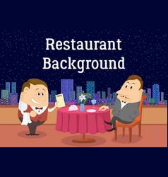 gentleman in open-air restaurant vector image vector image