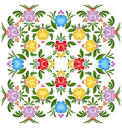 Gorodets painting pattern Floral ornament Russian vector image vector image