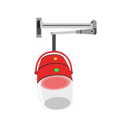 Hair steamer icon dryer iron blender machine vector