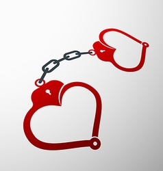 Handcuffs Stock vector image vector image