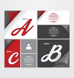 Infographic Design modern Vintage Labels template vector image