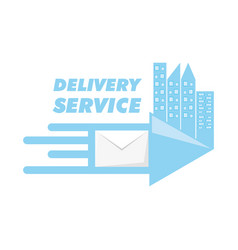 Message with city to fast delivery design vector