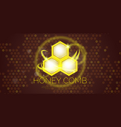 modern poster for sale of cosmetics based on honey vector image vector image