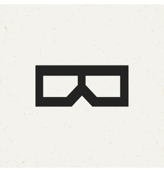 Movie glasses icon vector