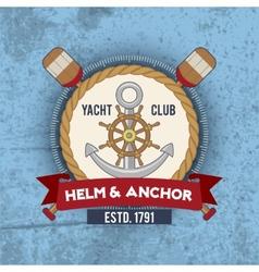 Nautical Emblem Vintage vector image vector image