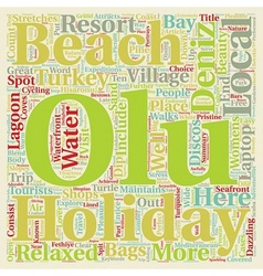 Olu deniz turkey holidays text background vector