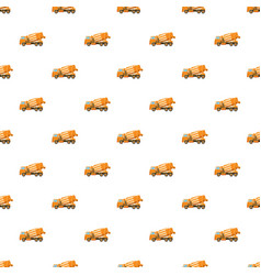 Orange truck concrete mixer pattern vector