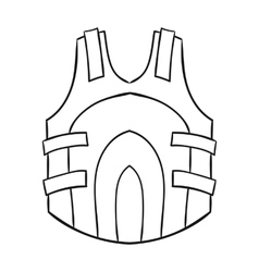 Paintball vest icon in outline style isolated on vector
