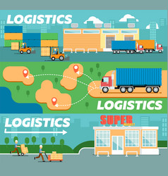 Retail logistics and distribution poster vector