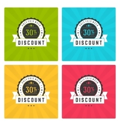 Sale Banners or Labels Design Set vector image