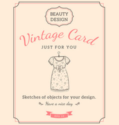 Sketch dress and text vector
